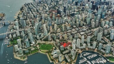 A Picture of Vancouver from the sky